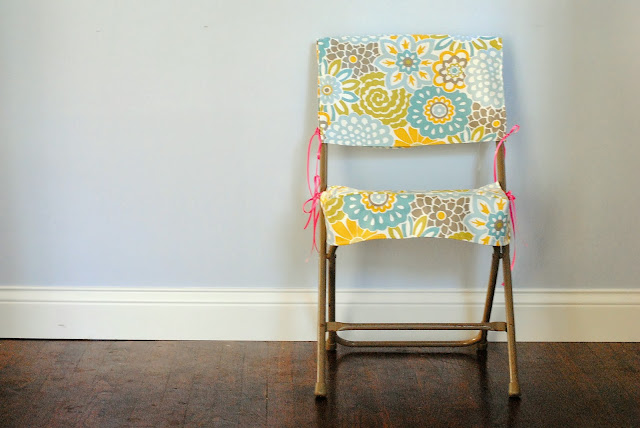 diy folding chair slipcover