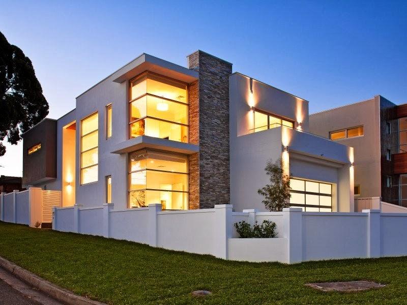 Hogares frescos fachadas de casas especial de hogares - Casas de iluminacion ...