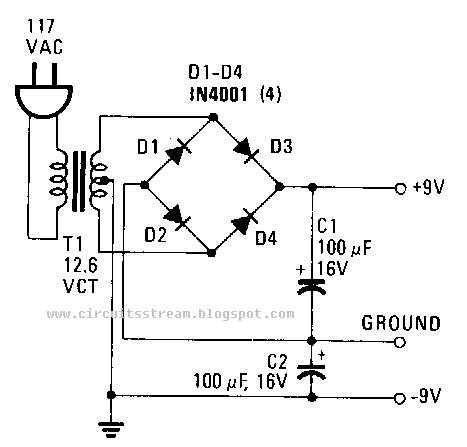 how to build a simple power supply circuit diagram