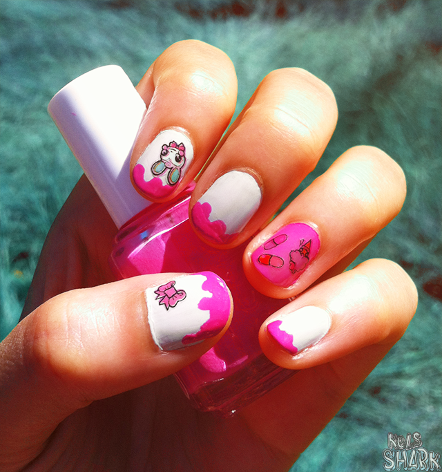 Kels Shark: Watermelon Melted Ice Cream Nails | Rudy Fig Decals