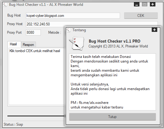 Bug Host Checker
