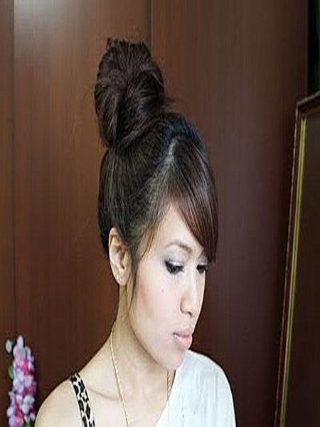 Korean Updo Hairstyles for Women Trends 2013