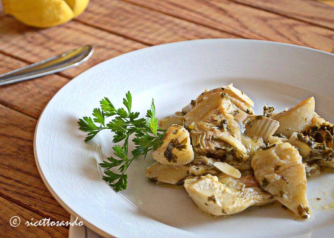 Carciofi trifolati ricetta contorno ricetta di base di verdura