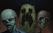 Zombie, Creeper, SkeletonLeft to right. Note: This is an alternate art .
