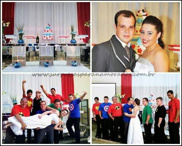 casamento com super herois