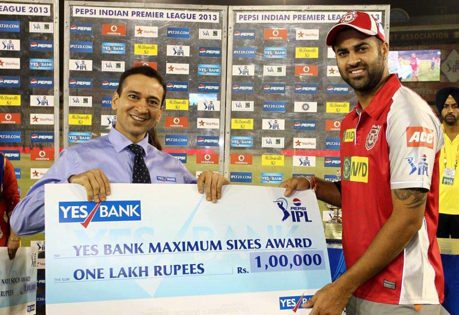 Manpreet-Gony-Maximum-Sixes-KXIP-vs-KKR-IPL-2013