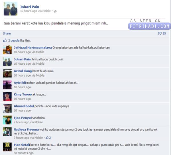 johari pain kerat kote malaysia menang pingat
