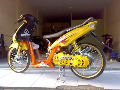 modifikasi mio sporty warna kuning terkeren