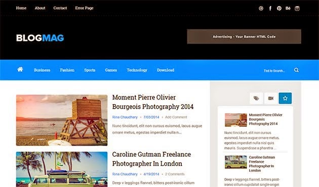 Template BlogMag Free