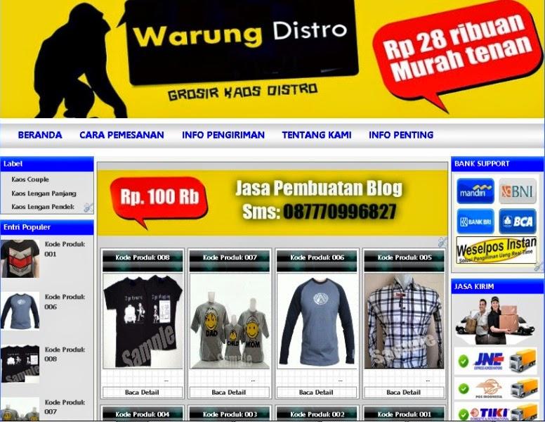 Blog Toko online Kaos Distro
