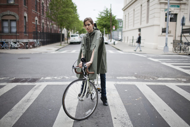 Capa de chuva para ciclista