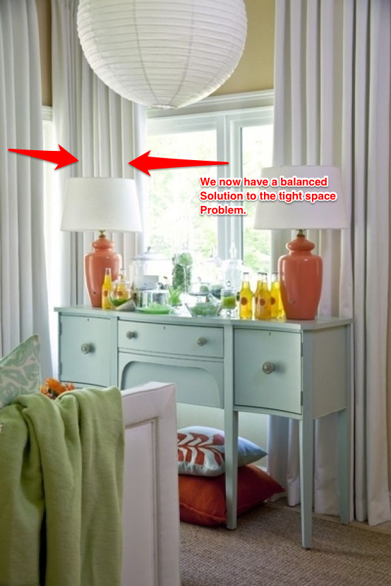 Curtains Ideas curtain rod close to wall : Sugar Cube Interior Basics: How To Hang Drapes On Disconnected ...