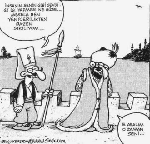 osmanlı padişah karikatürleri insanın sevdiği işi yapması ne güzel