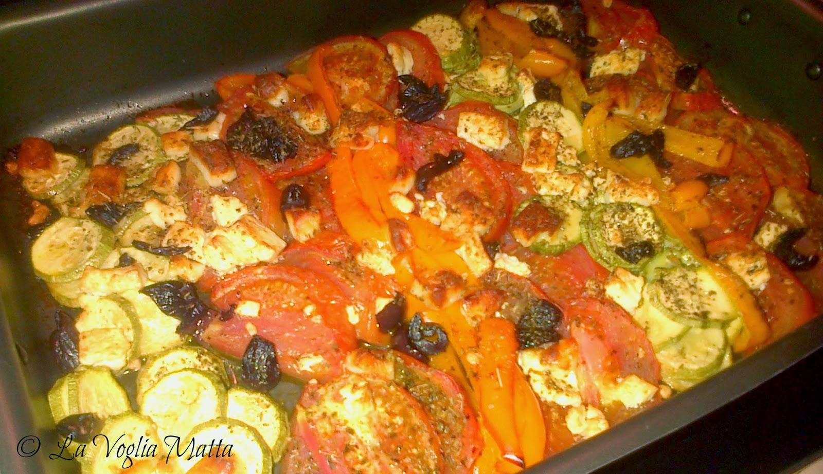 infornata di verdure alla greca