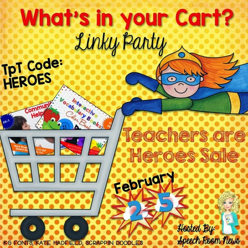 http://thespeechroomnews.com/2015/02/whats-in-you-cart-linky-party-hero-sale.html