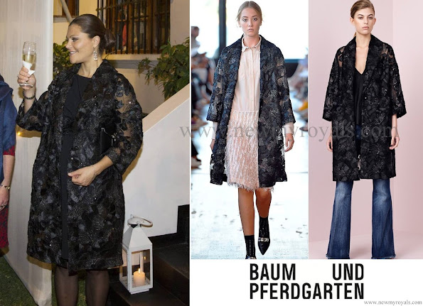 Crown Princess Victoria wore a black Baum und Pferdgarten lace and silk embroidered jacket.