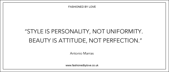 via fashioned by love | best fashion & style quotes | Antonio Marras