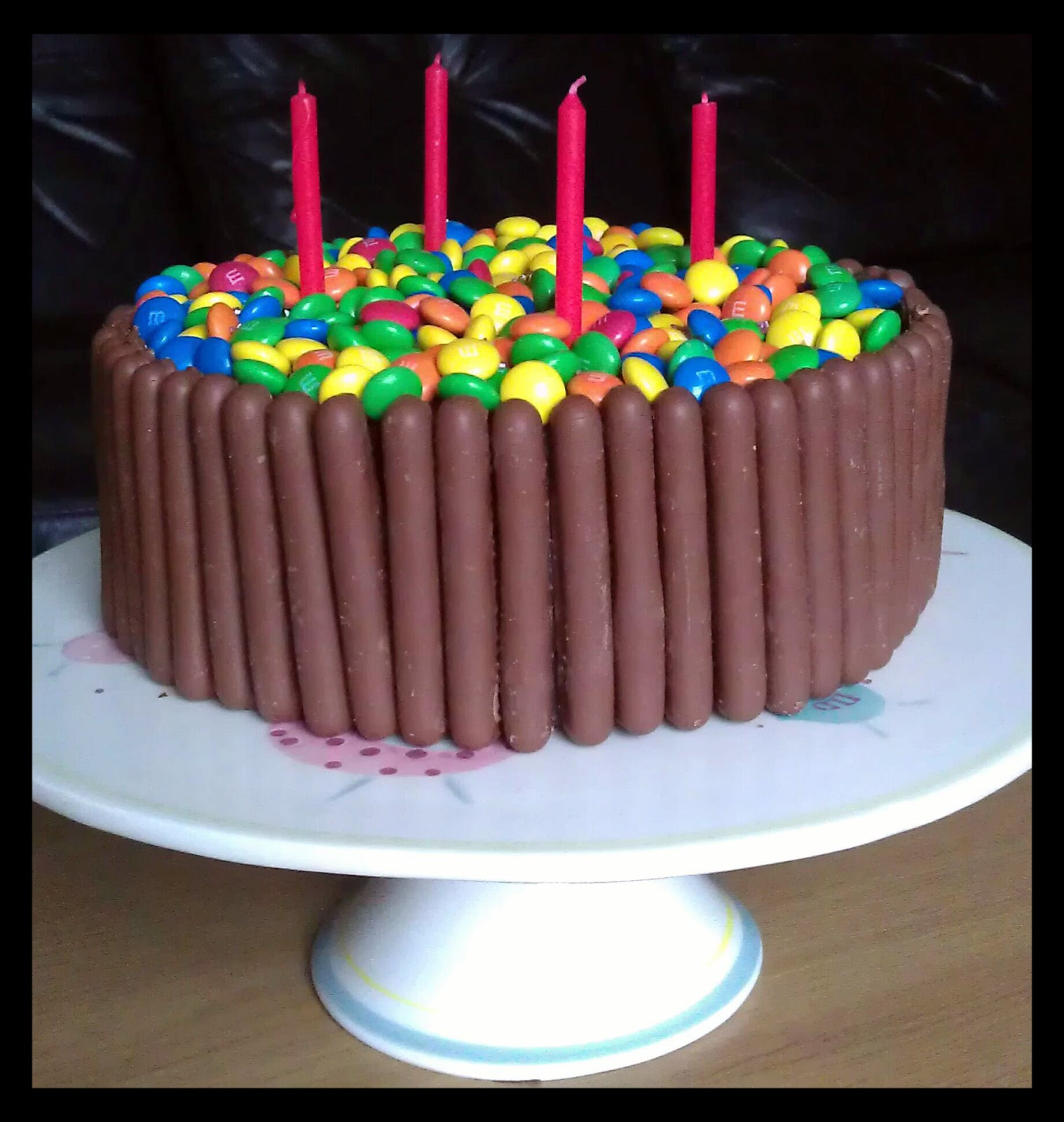 My Little Kitchen Chocolate Fingers and Smarties Birthday Cake