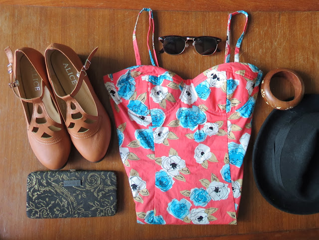 Fashion outfit forever21 flower dress