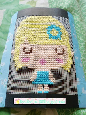 little girl cross stitch