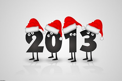 happy_new_year_with_santa_christmas_hats_wallpaper