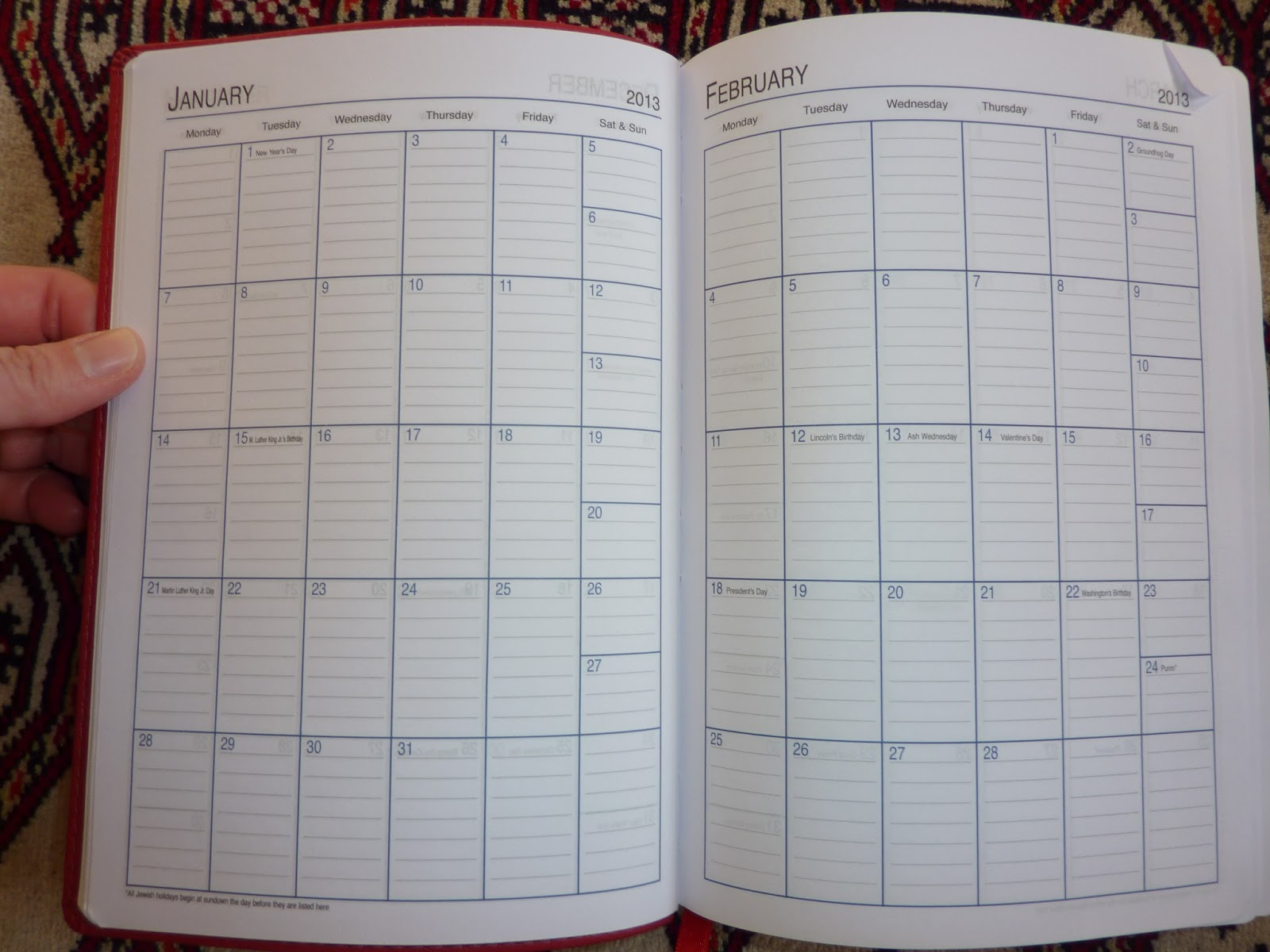 Monthly Calendar Notebook : Plannerisms the showdown day per page diary vs undated