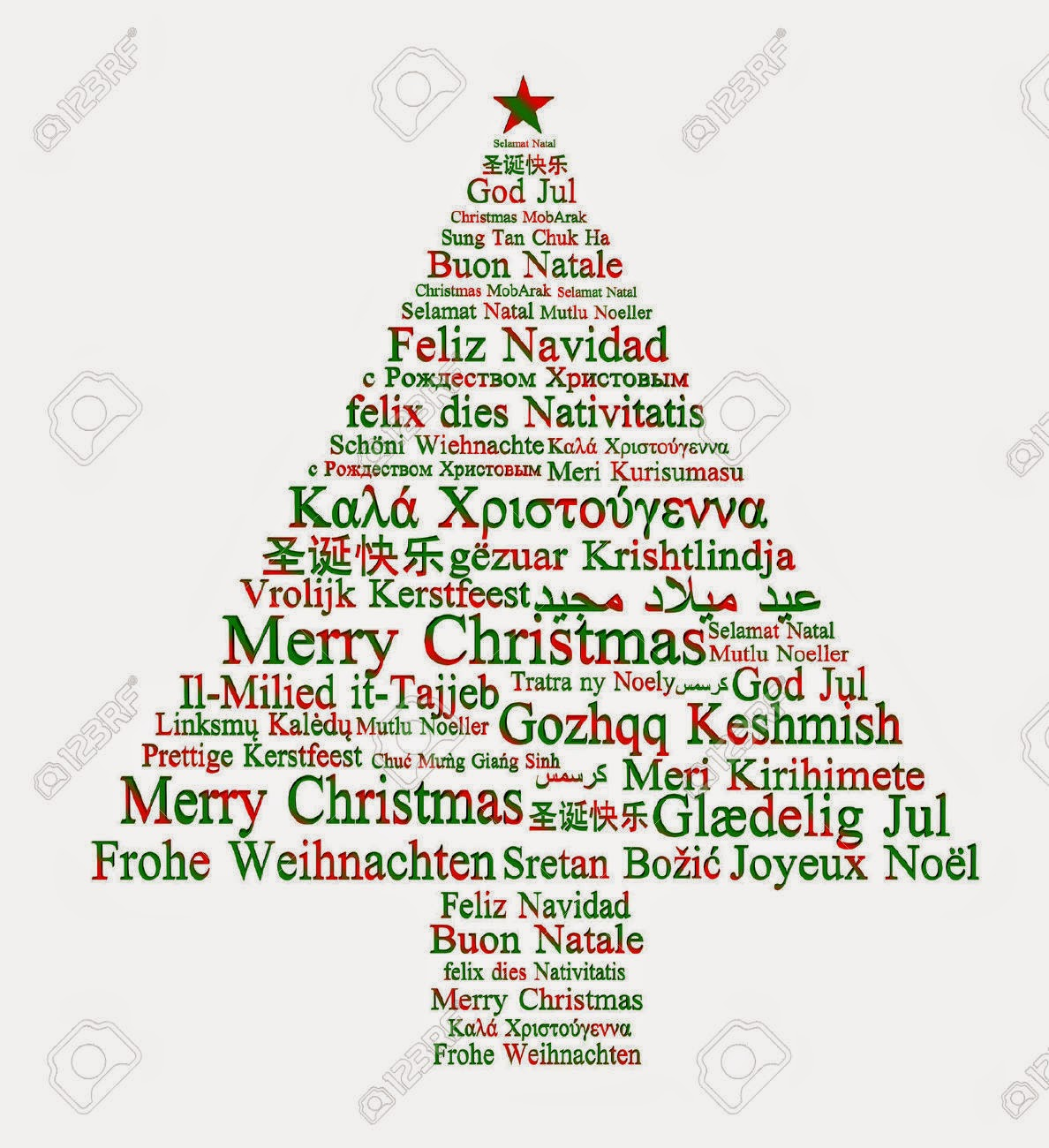 Declarative image regarding merry christmas in different languages printable