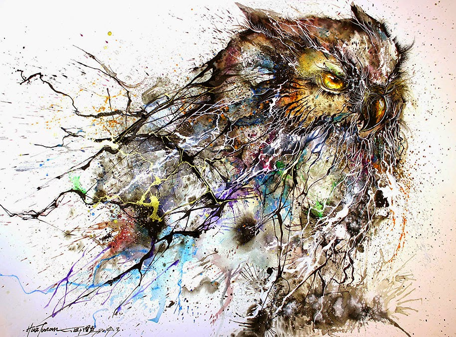 Simply Creative: Splatter Paintings by Chen Yingjie