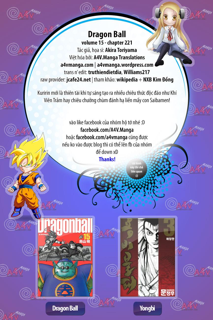 xem truyen moi - Dragon Ball - 7 Viên Ngọc Rồng - Chapter 221