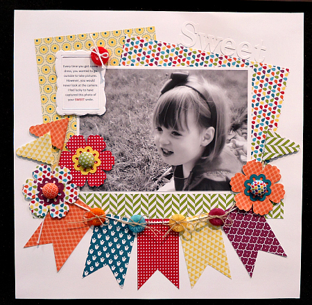 Sweet Scrapbook Page