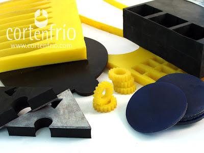 Cortenfrio corte por agua de elastomeros gomas siliconas pu