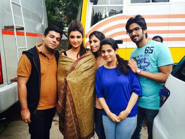 Parineeti Chopra is clicked on the sets of the movie 'Kill Dil'