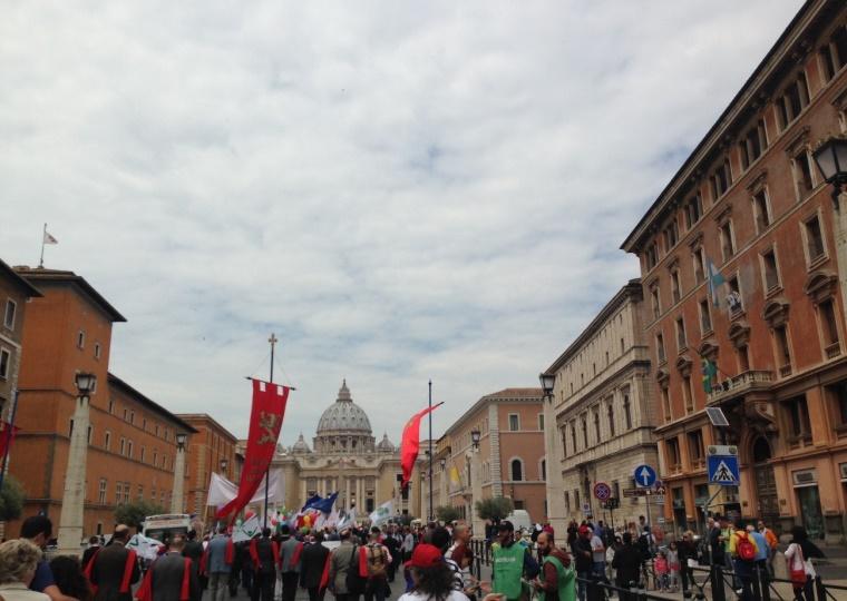 Marcha pela vida em Roma 8 maio 2016