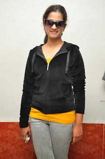 Actress Nanditha Raj Latest Pictures at Ram Leela Movie Team Theater Visit  018
