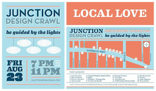 Local Love: Junction Design Crawl 2013: Participating Venue Map: Be Guided by the Lights, Friday, August 23