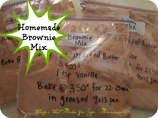 easy homemade brownie mixes