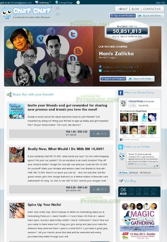 layout design laman web churpchurp baru