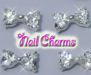 Glitter Lambs Nail Charms