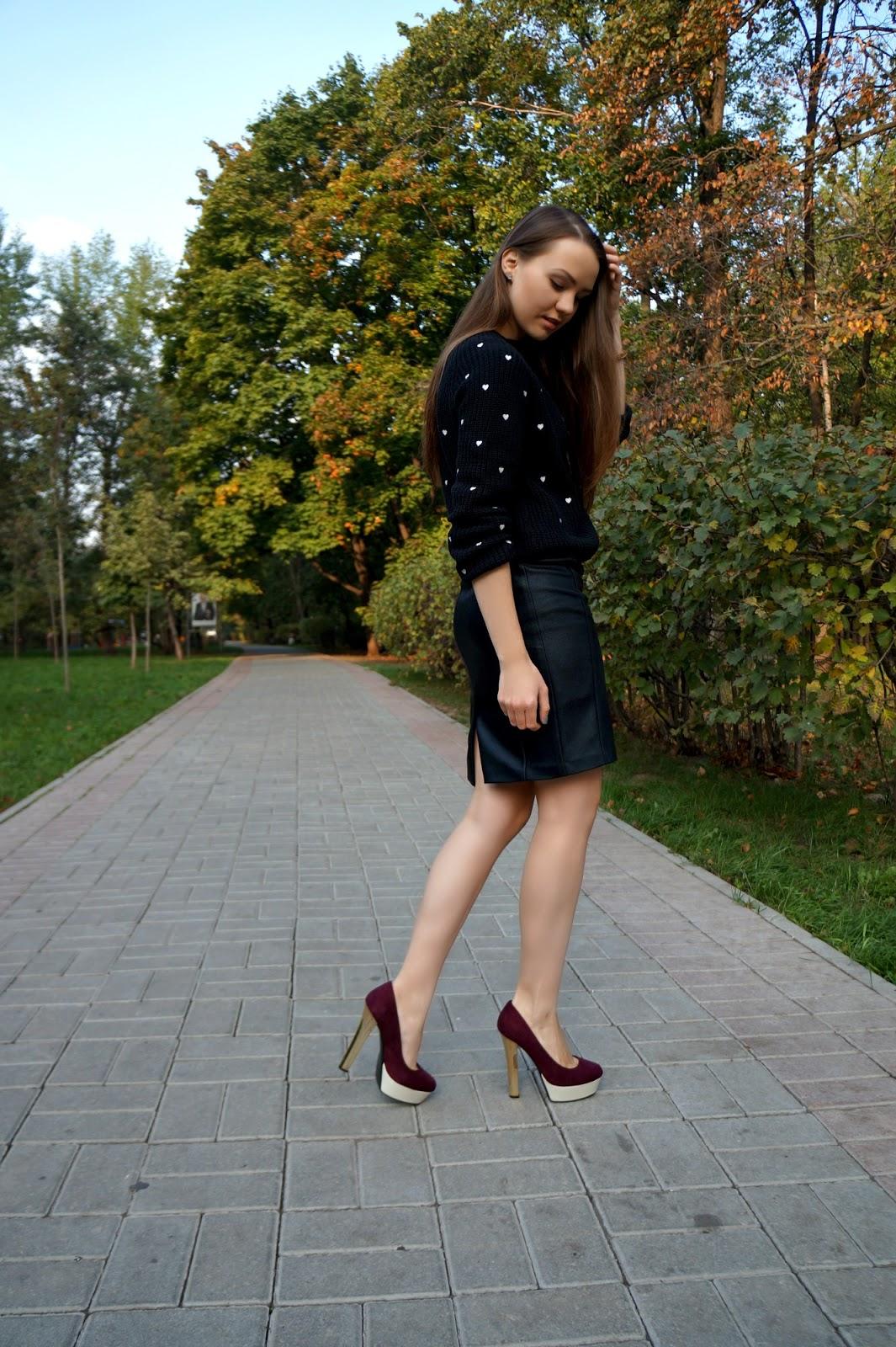 Zara cropped sweater, fall