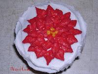 Christmas Poinsettia Cupcake