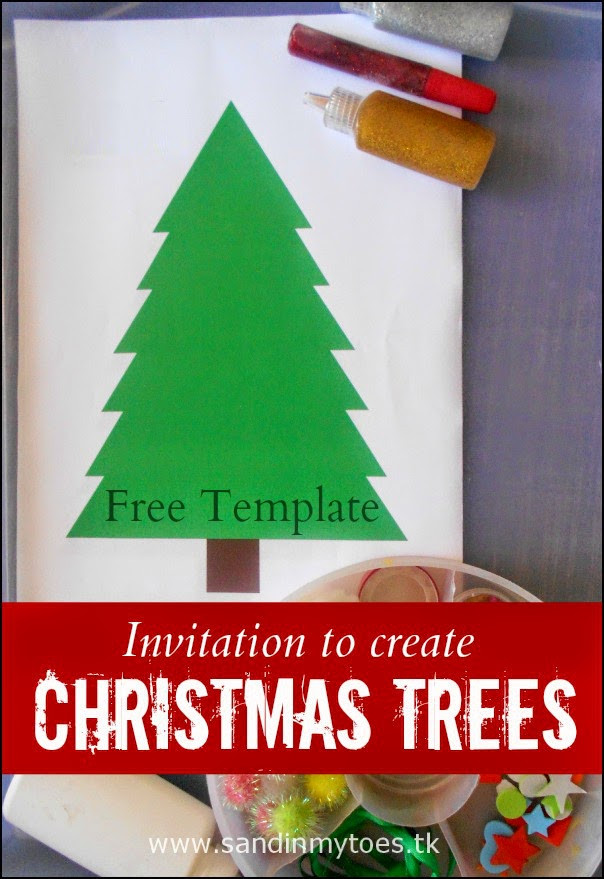 Invitation to Create Christmas Trees (Free printable included)