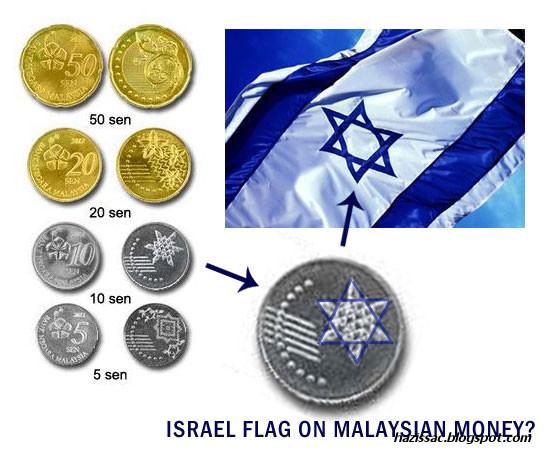 gambar lambang israel pada duit syiling baru malaysia