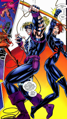 Avengers Crossing Hawkeye Black Widow