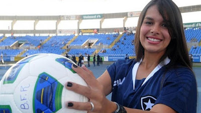 fernanda maia en el estadio