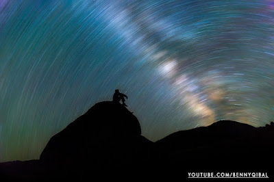 Create Fake Star Trail Photoshop Tutorial