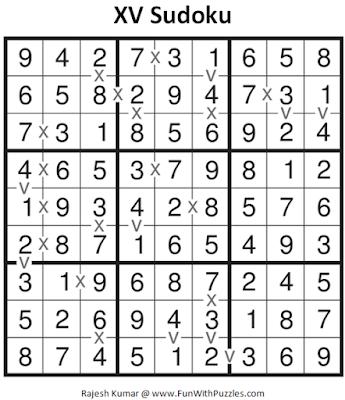 XV Sudoku (Daily Sudoku League #126) Solution