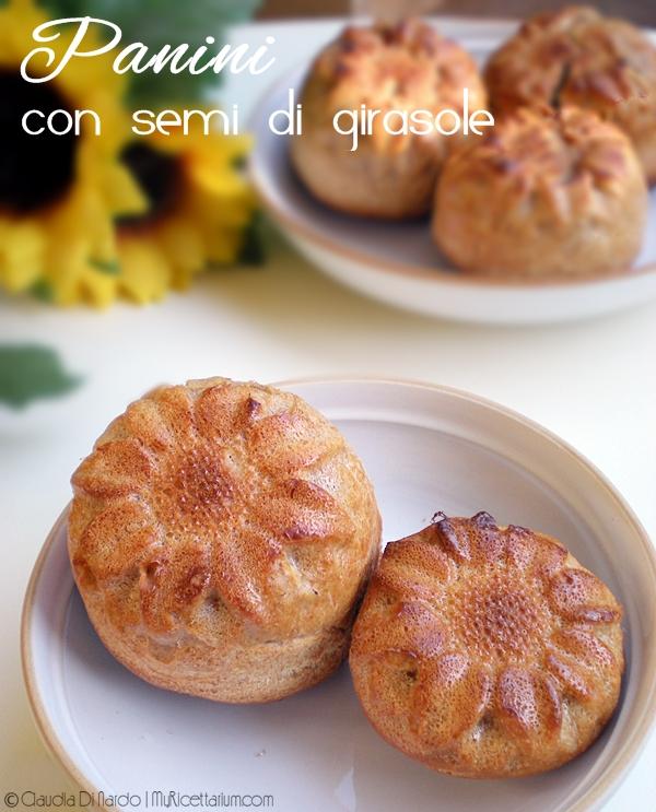 Panini semi-integrali con segale e semi di girasole