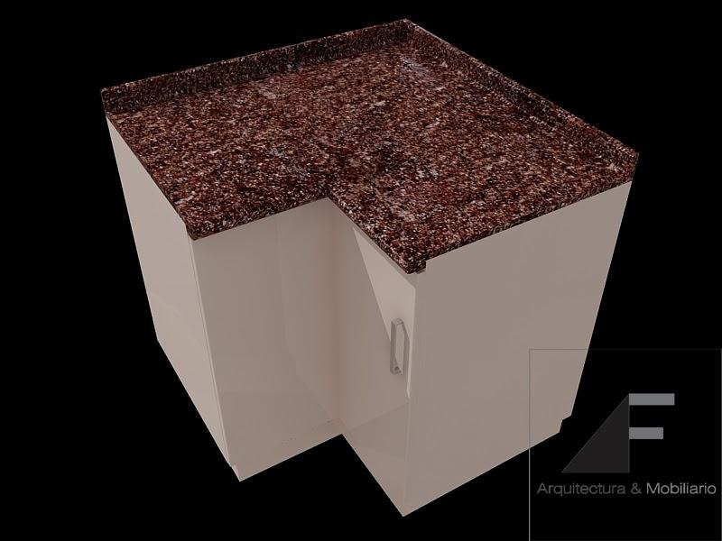 Af arquitectura y mobiliario mobiliario para cocinas 3 - Mueble esquinero cocina ...