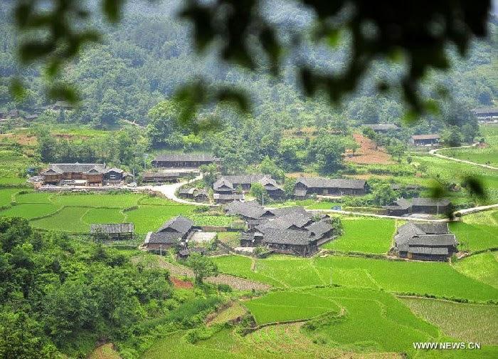 Pemandangan rumah adat