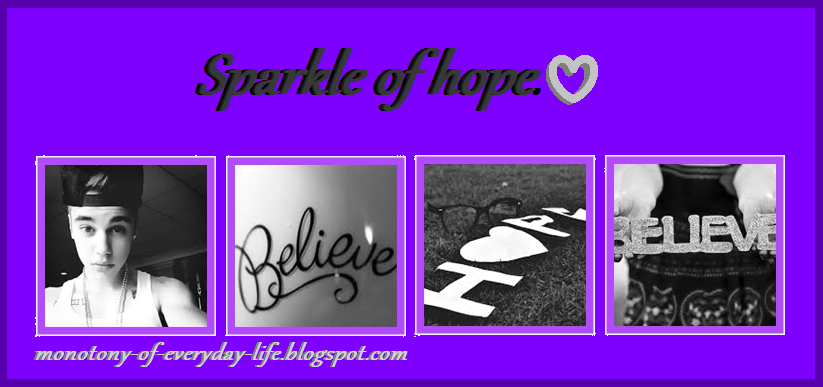 Sparkle of hope ♥